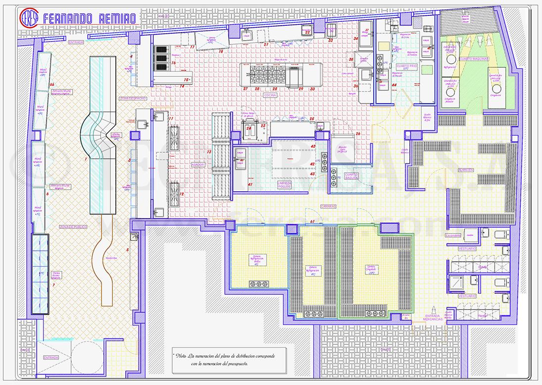 Plano planta asador tecnifrisa maquinaria de hosteler a for Planos de una cocina industrial