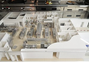 Maqueta de la instalación de hostelería realizada en el BILBAO EXHITIBION CENTRE (BEC)